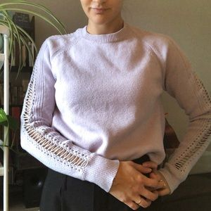 Rebecca Taylor Lilac Sweater with Sleeve Details